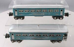 Lionel 2640S Vintage O Prewar Blue Pullman Two Car Passenger Set: 2640 2641