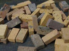 50 1:12th SCALA REALE Brick GIALLO STOCK mattoni in miniatura