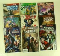 Lot of 9 Marvel Comics Avengers Cap't America X-Men Fantastic 4 Superman Batman