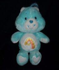 "13"" VINTAGE 1983 CARE BEARS WISH BEAR STUFFED ANIMAL PLUSH KENNER BLUE TOY STAR"