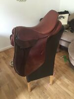 16 Inch Tan Leather Stubben Laurus Jumping Saddle Wide Width