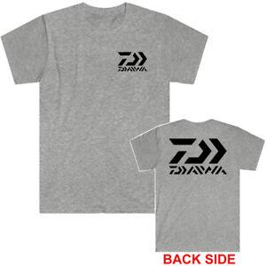 Daiwa Fishing Logo Men's Grey T-Shirt Size S to 5XL