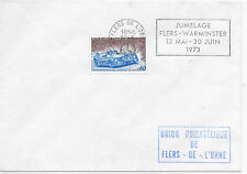 FRANCE SPECIAL CANCEL COVER 13/5 - 30/6/1975;TWINNING FLERS & WARMINSTER SG 2012