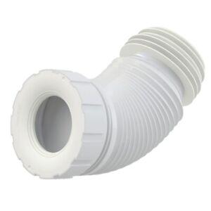 WC Flex Anschlußstutzen Abfluss Rohr Anschluss flexibel 230-530mm weiß