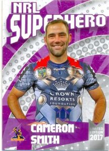 2017 NRL Limited Edition Superhero Card Cameron Smith 51 of 100 Melbourne Storm