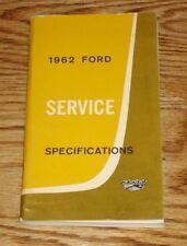 Original 1962 Ford Car & Truck Service Specifications Manual 62 Thunderbird