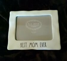 """Rae Dunn best mom ever Picture Frame 5"""" X 7""""   photo frame horizontal LL new"""