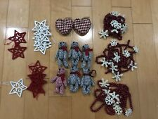 Christmas Modern Felt Houndstooth Knit Ornaments Beaded Garlands Target 23 Pc