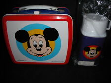 Early 1980's Mickey Mouse Metal Lunch Box fom Japan VERY RARE Vintage Japanese