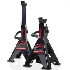 HEAVY DUTY 6 TON AXLE STAND PAIR GARAGE WORKSHOP MECHANIC RATCHET JACK