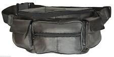 Delux Genuine Leather Waist Fanny Pack Belt Pouch Travel Hip Purse Men Women