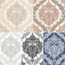 P & S International Luxury Damask Pattern Motif Glitter Embossed Wallpaper