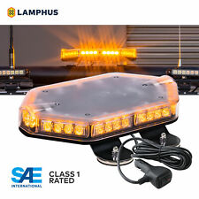 "LAMPHUS NanoFlare 12"" 40W AMBER Mini LED Light Bar - Security Emergency Vehicles"