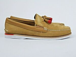 Sperry Top Sider A/O Tassel 'Tan Red' Suede Boat Shoe (US13) authentic premium