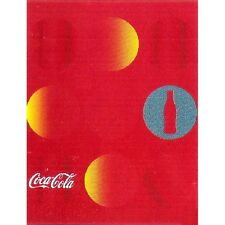 "Couverture plaid polaire Coca-Cola ronds rouge orange ""Collector"""