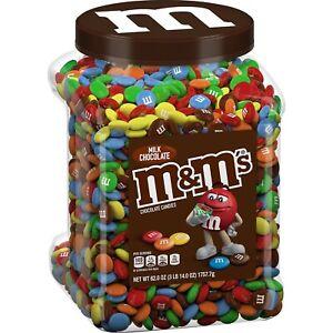 M&M'S Milk Candies Jar, Chocolate, 62 oz 3.87 Pound (Pack of 1)