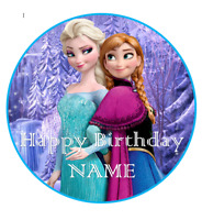 Frozen personalised edible Image cake topper 19cm #57