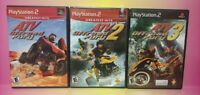 3 Game Racing Lot PS2 Playstation 2 Complete ATV Offroad Fury 1 2 3 Trilogy