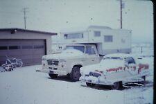 35mm slide - Vintage - Collectibles - Photo - truck car camper snow