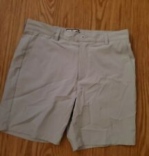 Over Under performance Khaki Pocket  Cotton-Spandex Shorts Sz 32
