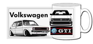 vw golf gti mug, coffee, pop icon,mk1, mk2, mk3, mk4, mk5, evolution, R, TDI