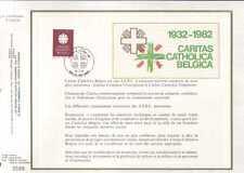 Feuillet CEF Belgique n°348 Caritas Catholica Belgica cachet 22-1-83 Bruxelles