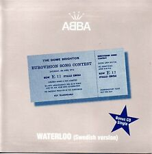 ☆ CD SINGLE EUROVISION 1974 Suede : ABBA Waterloo (Swedish Version) 1-track CARD