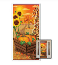AUTUMN FALL holiday party SCENE SETTER wall/door cover poster Halloween pumpkin