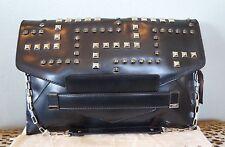 RAFE Black Leather Studded SARINA Clutch Shoulder Bag Purse