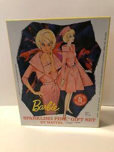 BARBIE SPARKLING PINK REPRODUCTION GIFT SET BLONDE BUBBLE CUT NRFB