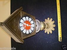 Desk clock on stand mechanical old original Antique collectibles