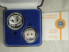 1995 FAO-FOOD AND AGRICULTURE ORGANIZATION 50th ANNIV. BU+PR SILVER COINS