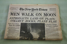 Orig NY Times Apollo 11 Moonwalk newspaper