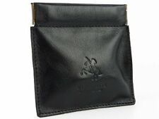 Visconti CP7 Mens Genuine Leather Wallet Coin Purse Holder Black Italian Style G