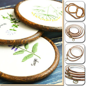 Embroidery Flexi Hoop Cross Stitch Sewing Octagon Wood Frame Tools DIY Carft
