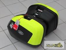 GIVI V35NTFL Seitenkoffer (Paar) Monokey schwarz-matt Cover neon gelb lackiert