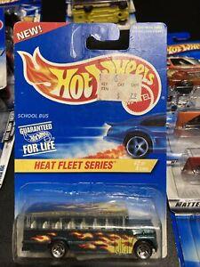 Hot Wheels 1997 Heat Fleet Series School Bus Unopened No 2 of 4