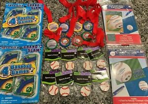Baseball Birthday Party Favors Lot Toys Erasers Invites Supplies Thank You Cards