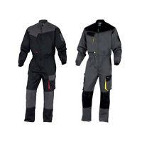 Delta Plus DMCOM Mens Work Overalls Boiler Suit Coveralls Knee Pockets Mechanics