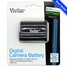 EN-EL15 Battery for Nikon D7200 D7100 D810 D800 D750 D610 D600 D500 DSLR Camera