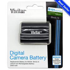 EN-EL15 Battery for Nikon D7200 D7100 D810 D800 D750 D610 D600 D500 DSLR Camera