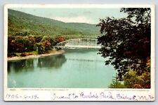 8668 Connecticut River & Bridge, Brattleboro, Vermont Postcard, Windham County