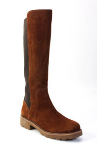 Tory Burch Womens Suede Knee High Riding Boots Tan Brown Size 8.5 LL19LL