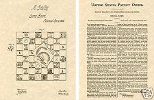 Game of Life US Patent Art Print READY TO FRAME! 1866 Milton Bradley Board