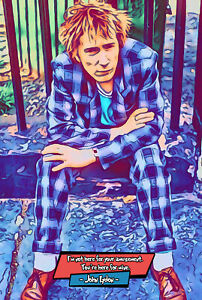 John Lydon Comic Icons Art Print (Available In 4 Formats)