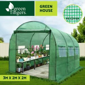 Greenfingers Greenhouse  Walk in Garden Shed Green House 3X2X2M Storage Lawn
