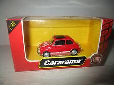 FIAT 500 ROSSA CARARAMA SCALA 1:43