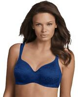 Playtex 4832 Love My Curves Amazing Shape Balconette Underwire Bra 44D Blue