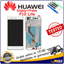 DISPLAY LCD +TOUCH SCREEN VETRO+ FRAME PER HUAWEI (P10 LITE) WAS-LX1A BIANCO
