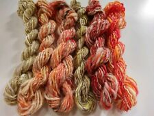 Handspun single-ply 6 skeins art yarn